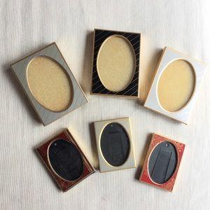 Set of 6 vintage mini oval picture frames